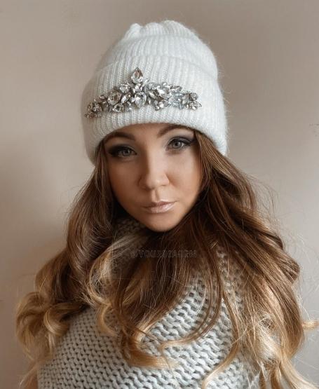 Зимняя шапка Жасмин White