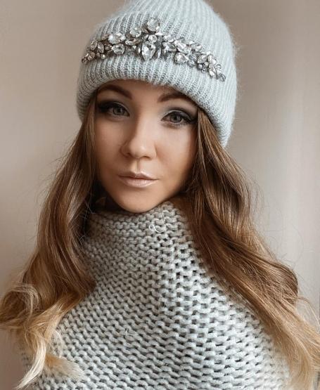 Зимняя шапка Жасмин Grey
